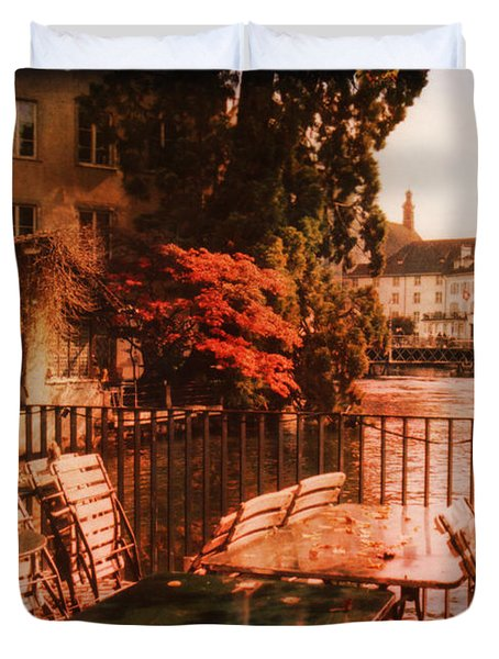 Fall in Lucerne Switzerland Duvet Cover by Susanne Van Hulst