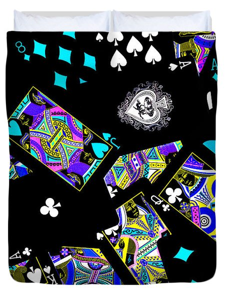 Fall of The House of Cards Duvet Cover by Wingsdomain Art and Photography