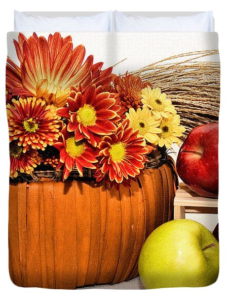 Fall Pleasures Duvet Cover by Susan Smith