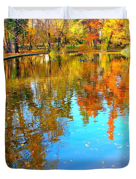 Fall Reflections Duvet Cover by Ana Maria Edulescu
