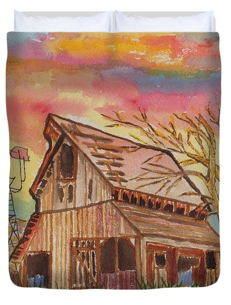 Fall Storms Coming Duvet Cover by Connie Valasco