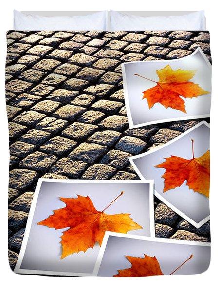 Fallen Autumn  prints Duvet Cover by Carlos Caetano