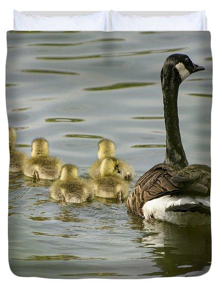 Family Swim Duvet Cover by Heather Applegate