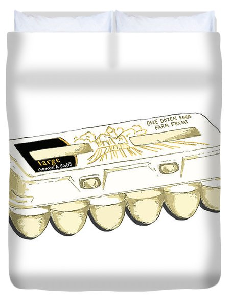 Farm Fresh Eggs Duvet Cover by George Pedro