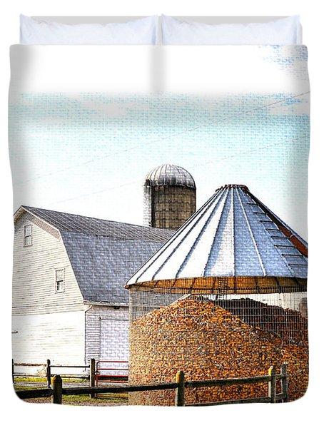 Farm Life Duvet Cover by Todd Hostetter