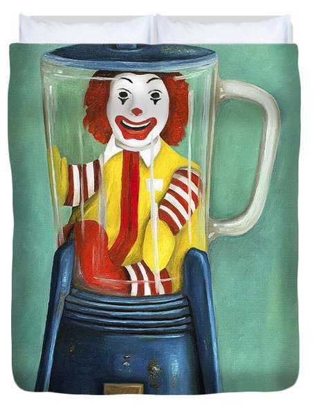 Fast Food Nightmare 2 The Happy Meal Duvet Cover by Leah Saulnier The Painting Maniac