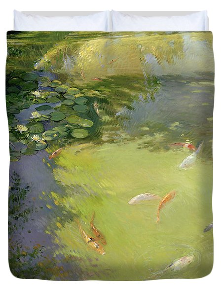 Featherplay Duvet Cover by Timothy Easton
