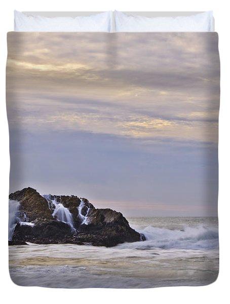 February Seascape Duvet Cover by Priya Ghose