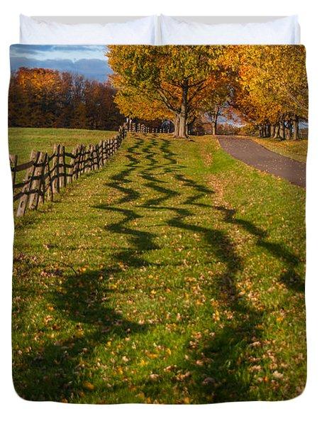 Fence Duvet Cover by Guy Whiteley