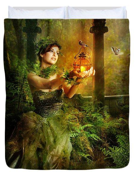Fern Duvet Cover by Mary Hood