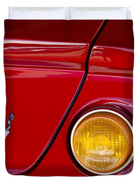 Ferrari Taillight Emblem 2 Duvet Cover by Jill Reger