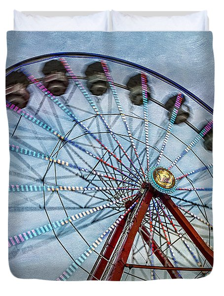 Ferris Wheel Duvet Cover by Susan Candelario
