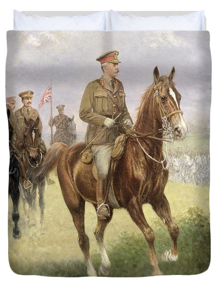 Field Marshal Haig Duvet Cover by Jan van Chelminski