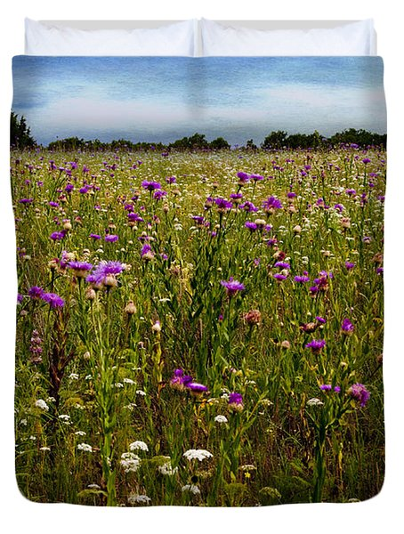 Field of Thistles Duvet Cover by Tamyra Ayles