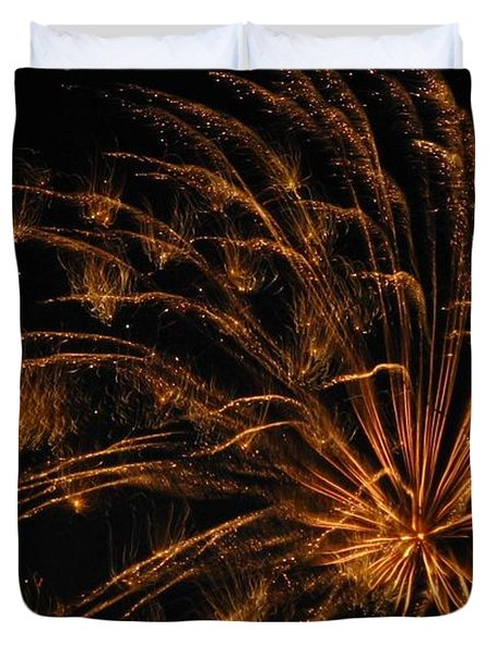 Fiery Duvet Cover by Rhonda Barrett