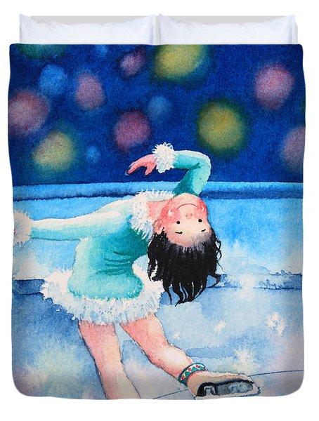Figure Skater 16 Duvet Cover by Hanne Lore Koehler