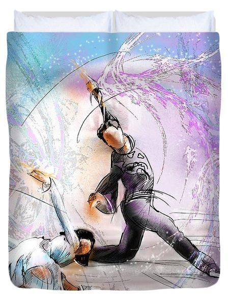 Figure Skating 02 Duvet Cover by Miki De Goodaboom