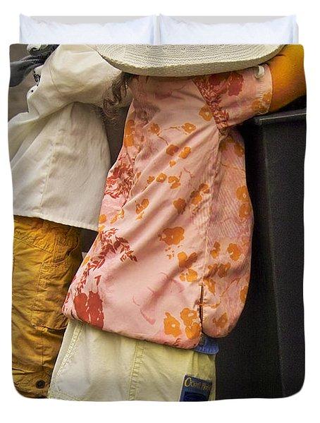 Figurines In Rural Dresses Duvet Cover by Heiko Koehrer-Wagner