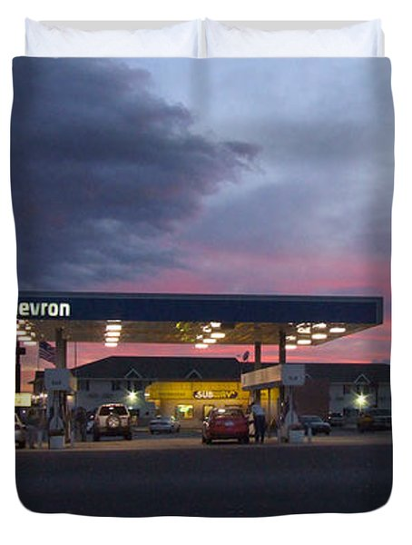 Filler Up Duvet Cover by Mike McGlothlen