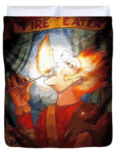 Fire Eater Duvet Cover by David Lee Thompson