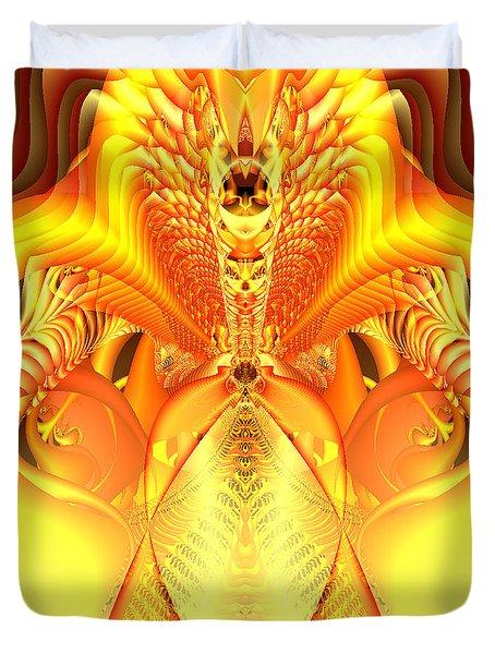 Fire Goddess Duvet Cover by Gina Lee Manley