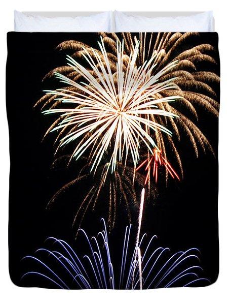 Fireworks  Abound Duvet Cover by Bill Pevlor