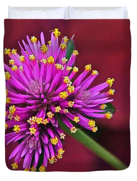 Fireworks Flower Duvet Cover by Byron Varvarigos