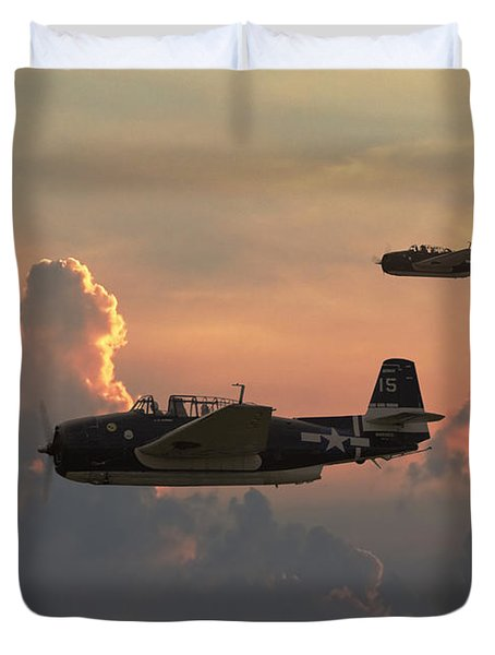 First Light Strike Duvet Cover by Pat Speirs