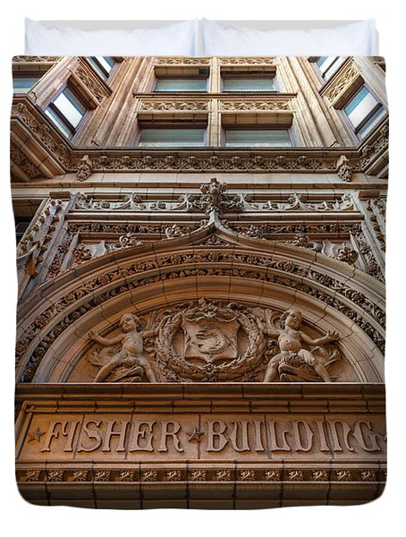Fisher Building Chicago Duvet Cover by Steve Gadomski
