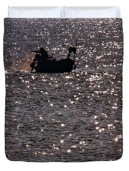Fisherman Duvet Cover by Stylianos Kleanthous