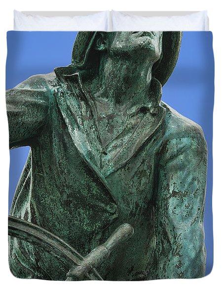 Fisherman's Memorial Duvet Cover by John Greim