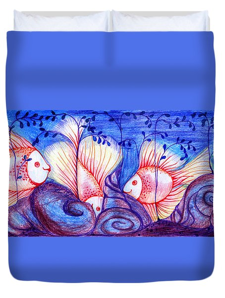 Fishes Duvet Cover by Hong Diep Loi
