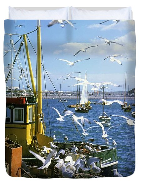 Fishing Boat Duvet Cover by The Irish Image Collection