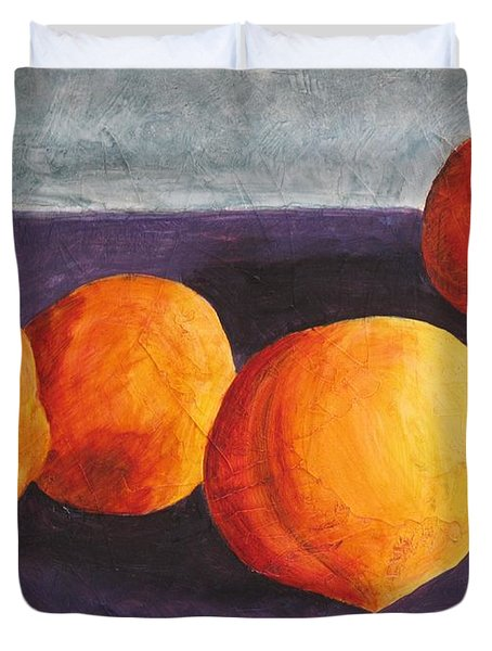 Five Peaches Duvet Cover by Dina Day