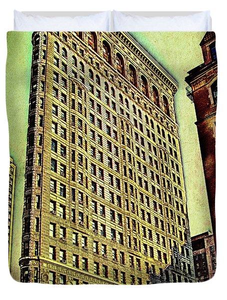 Flatiron Building Again Duvet Cover by Chris Lord