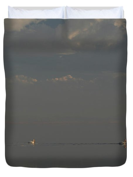 Floating Along Duvet Cover by Laurie Search