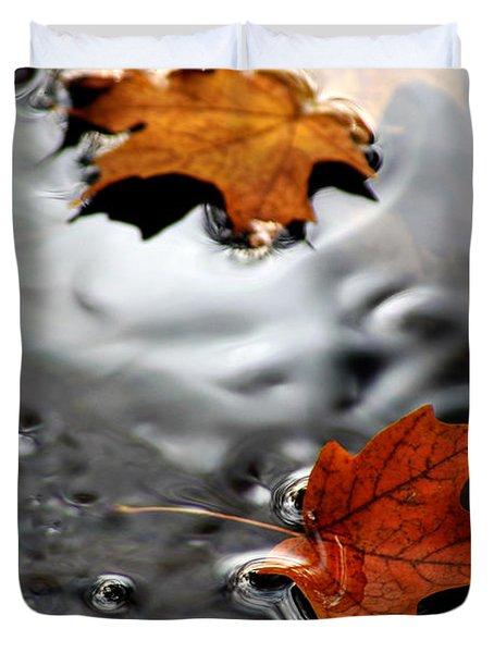 Floating Maple Leaves Duvet Cover by LeeAnn McLaneGoetz McLaneGoetzStudioLLCcom