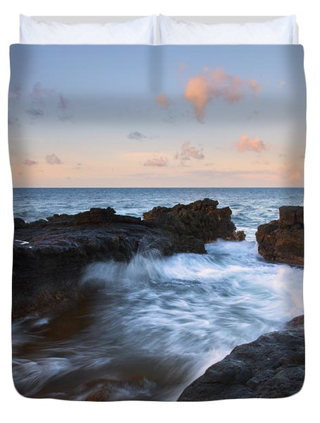 Flooding The Cracks Duvet Cover by Mike  Dawson