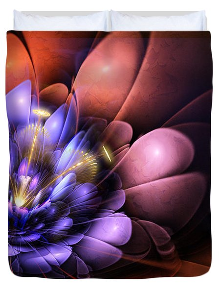 Floral Flame Duvet Cover by John Edwards