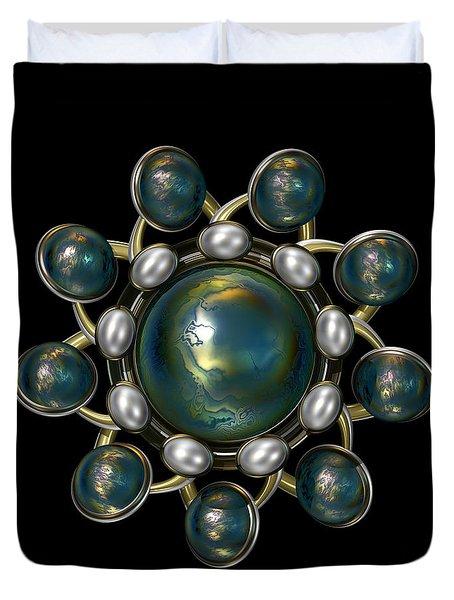 Floral Jewel Duvet Cover by Hakon Soreide