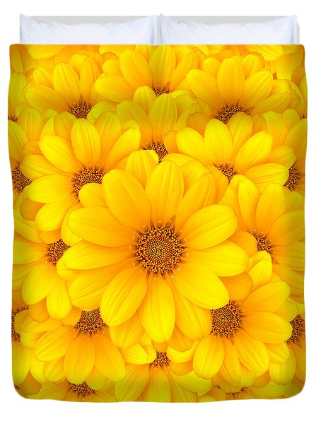 Flower background Duvet Cover by Carlos Caetano