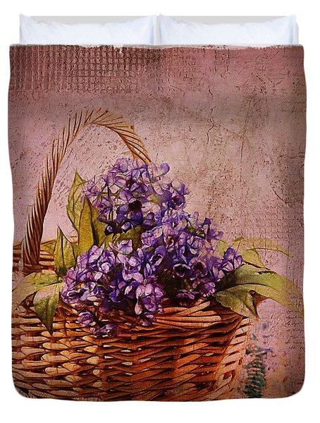 Flower Basket Duvet Cover by Judi Bagwell
