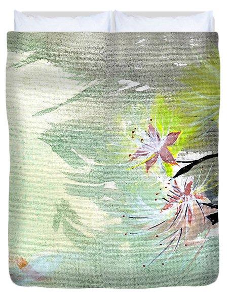 Flowers 3 Duvet Cover by Anil Nene