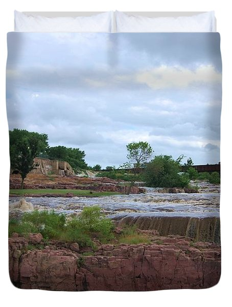 Flowing Falls Duvet Cover by Judy Hall-Folde