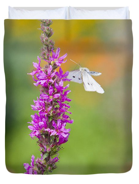 Flying Butterfly Duvet Cover by Melanie Viola