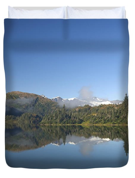 Fog Over Shrode Lake II Duvet Cover by Gloria & Richard Maschmeyer