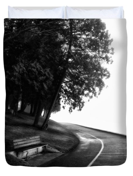 Foggy Day V-4 Duvet Cover by Mauro Celotti