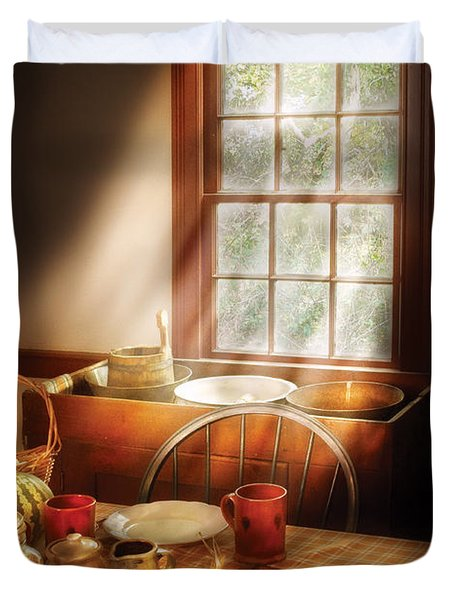 Food - Sunday Brunch Duvet Cover by Mike Savad