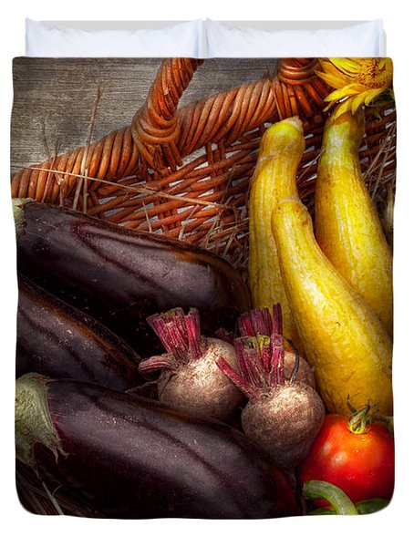 Food - Vegetables - From Mother's Garden Duvet Cover by Mike Savad