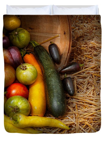 Food - Vegetables - Very Early Harvest Duvet Cover by Mike Savad